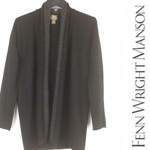 FWM 100% Italian Merino Wool Open Front Cardigan
